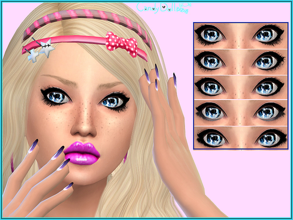 The Sims Resource: Candy Doll Star Lashes by DivaDelic06