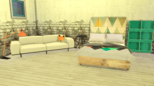 Lindseyx sims: R13′s Fabriek Bedroom &  Living Conversions