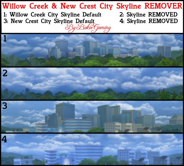 Mod The Sims: City Skyline Backdrop remover by Bakie