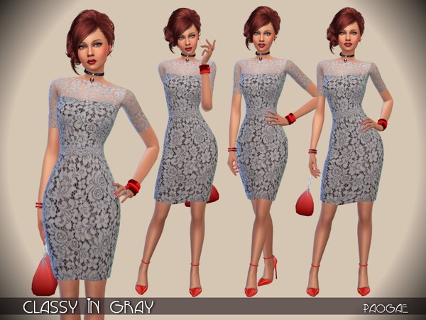 The Sims Resource: Classy in Gray by Paogae