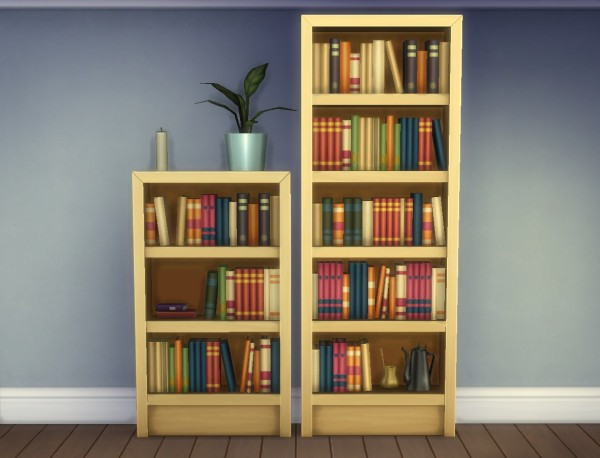 """Mod The Sims: Single Tile """"Intellect"""" Bookcases by plasticbox"""