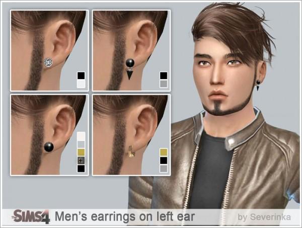 Sims by Severinka: Mens earrings set on left ear