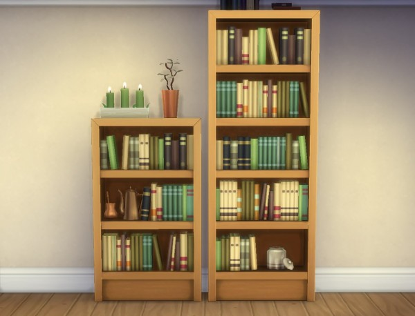 Mod The Sims Single Tile Intellect Bookcases By