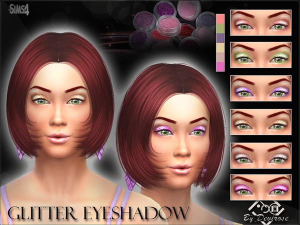 The Sims Resource: Glitter Eyeshadows by Devirose