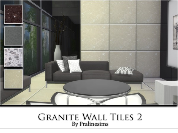 The Sims Resource: Granite Wall Tiles 2 by PralineSims