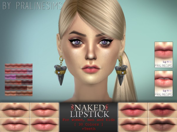 The Sims Resource: Naked Lipstick | 30 Colors / N32 by Pralinesims