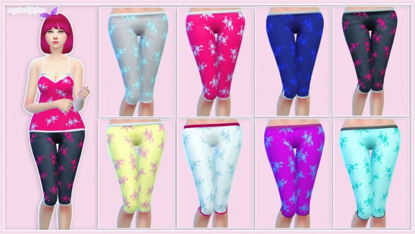 Simlife: Top and bottom pajamas