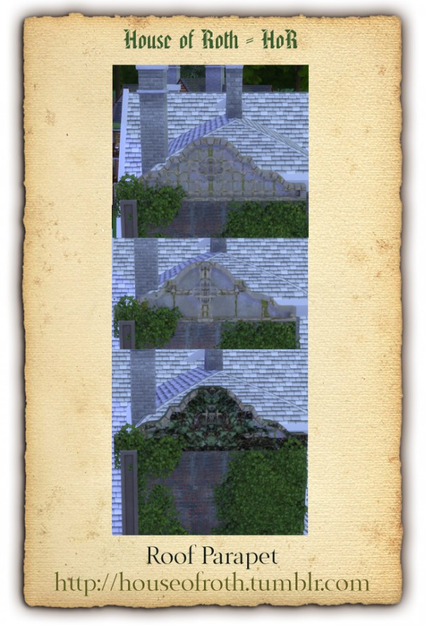 House of roth: Roof Parapet (3 styles)