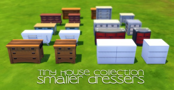 Peach And Her Pan Tiny House Collection Smaller Dressers