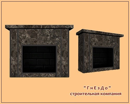 Sims 3 by Mulena: Fireplace Reliable stone