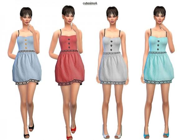 The Sims Resource: Ballon Heart Minidress Set by Sweetsims4