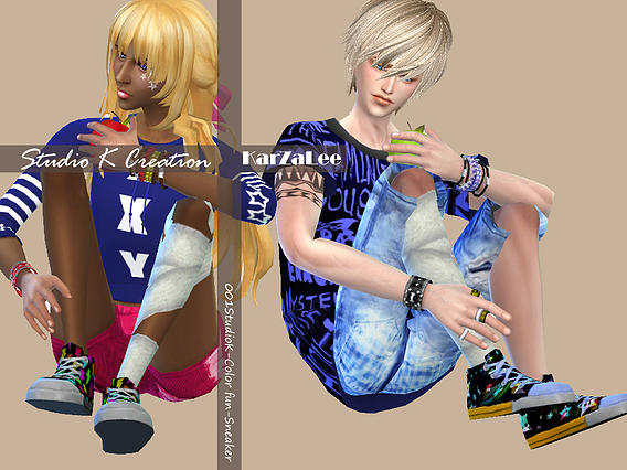 Studio K Creation: Color fun Sneakers