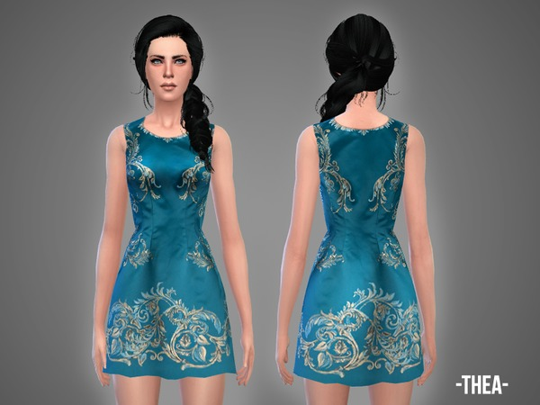 The Sims Resource: Thea   dress by Autaki