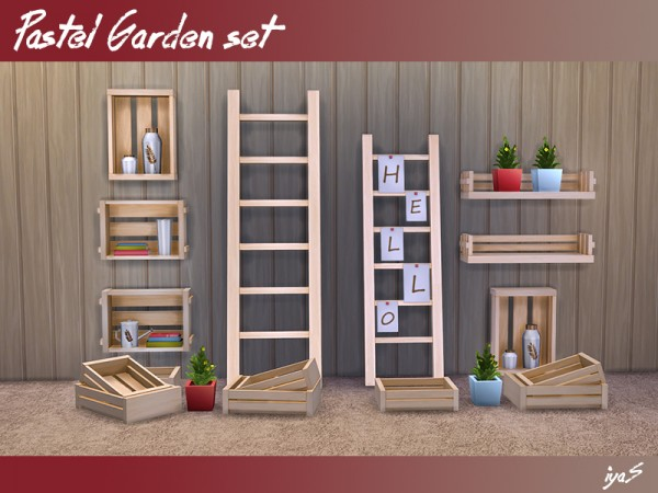 The Sims Resource: Pastel Garden set by Soloriya