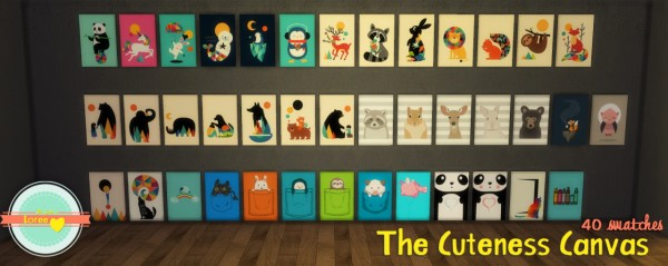 Loree Nursery Art The Cuteness Canvas Sims 4 Downloads