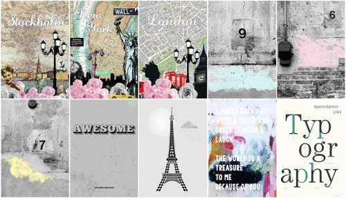 Hvikis: Designer posters   Industrial wallpaper collection