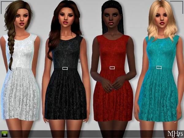 Sims Addictions: Chic Lace Dress by Margies Sims
