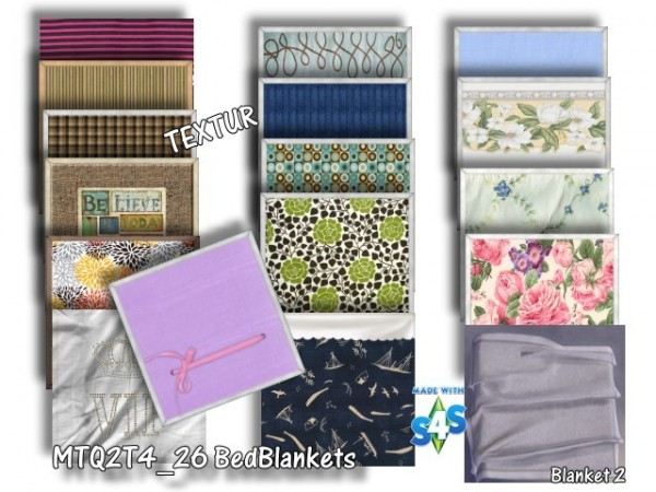 All4Sims: BedBlankets & Pillows by Architektur