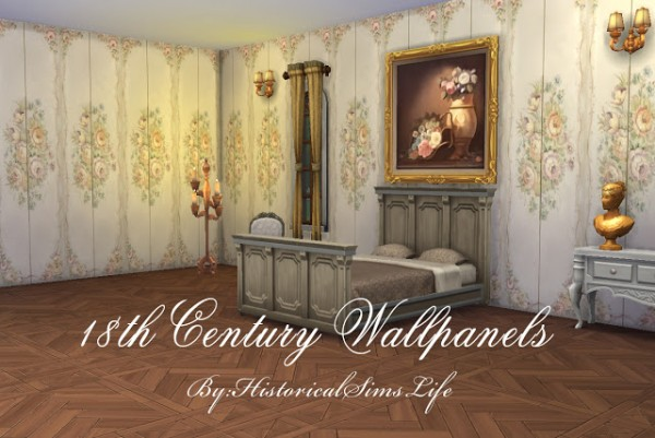 History Lover S Sims Blog 18th Century Wallpanels Sims