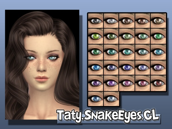 The Sims Resource: Snake Eyes CL by Taty