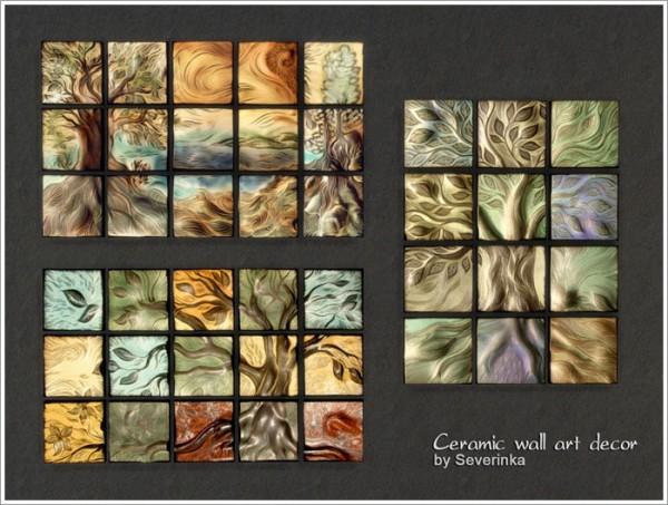 Sims by Severinka: Ceramic wall art decor • Sims 4 Downloads