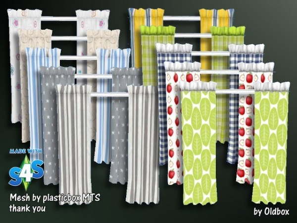 All4Sims: Curtains, Skirts, Cardigans by Architektur Artist