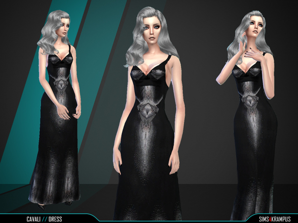 The Sims Resource: Cavali Dress by SIms4Krampus