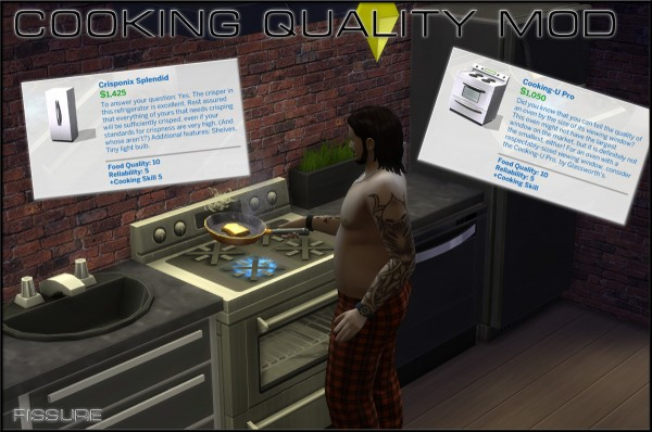 Mod The Sims: Cooking Quality Mod (10 Cooking Quality on all Fridges and Stoves) by Fissure