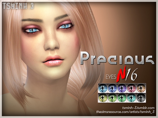 The Sims Resource: Precious Eyes by tsminh 3