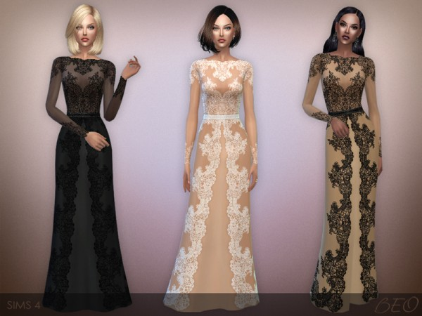 BEO Creations: Lace long dress