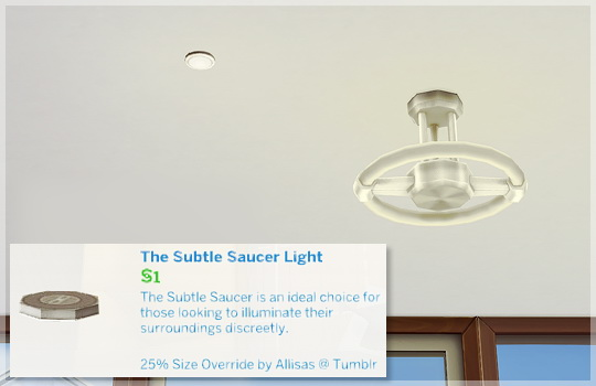 Allisas Simming Adventures: The Subtle Saucer Light Size Override