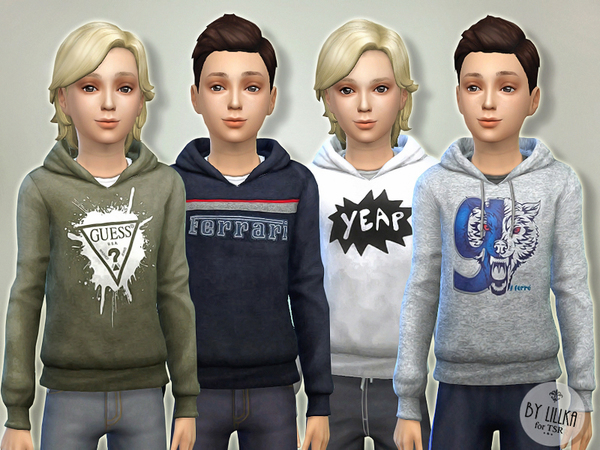 The Sims Resource: Hoodie for Boys P04 by lillka