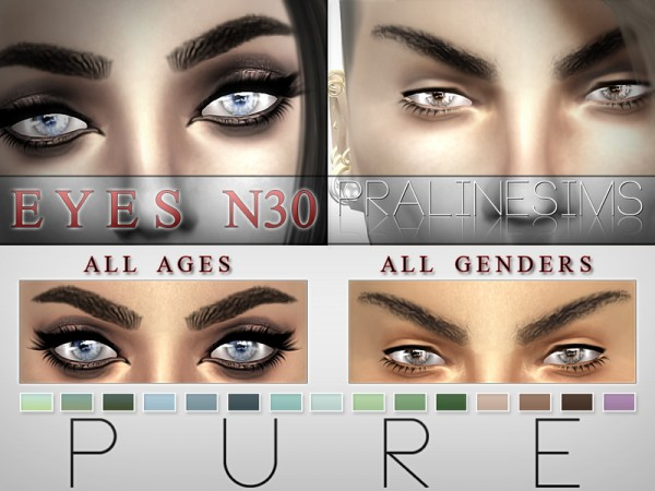 The Sims Resource: Pure Eyes N30 by Pralinesims