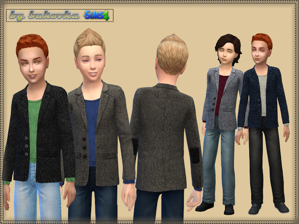 The Sims Resource: Costume Wool jacket and jeans by Bukovka