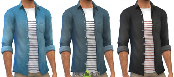 Around The Sims 4: New shirts for him