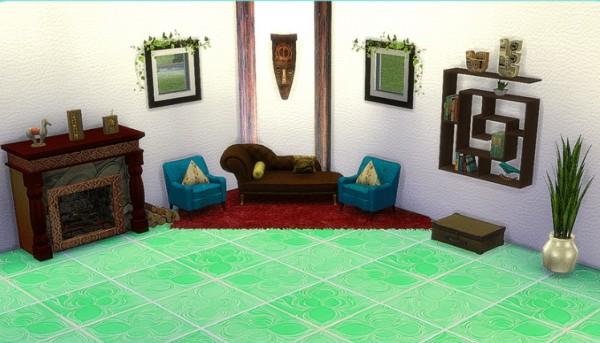 Sims 4 Designs: Mixed Tile Flooring