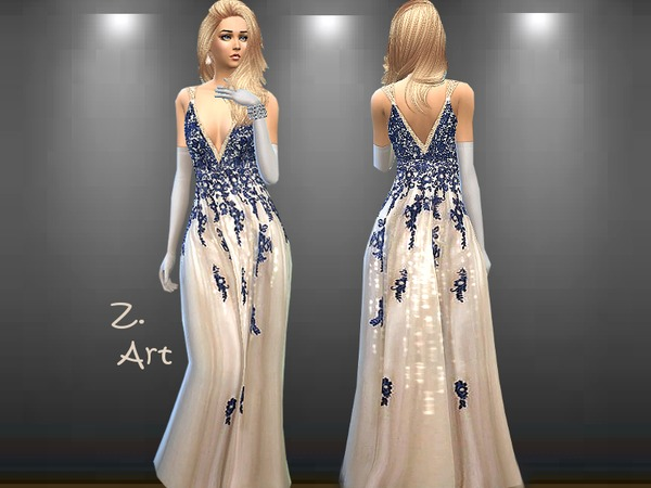 The Sims Resource: Opera dress by Zuckerschnute20