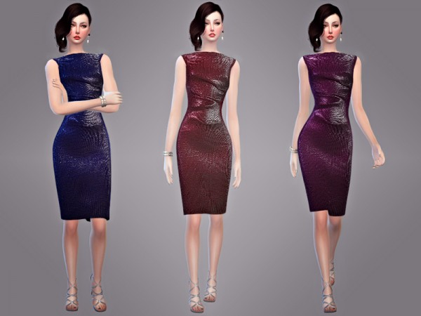The Sims Resource: Coralie   Dress by Tangerine simblr