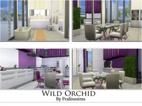The sims resource wild orchid by pralinesims sims 4 for Wild orchid furniture
