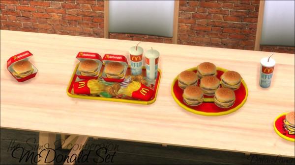 The Sims Lover Mcdonald Set By Dalai Lama Sims 4 Downloads