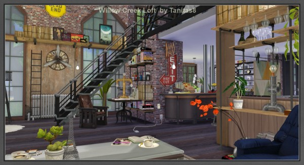 Tanitas Sims: Willow Creek Loft • Sims 4 Downloads