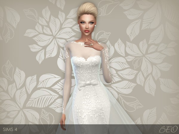 Beo Creations Wedding Dress 28 Sims 4 Downloads