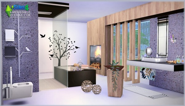 Simcredible Designs Modernism Bathroom Sims 4 Downloads