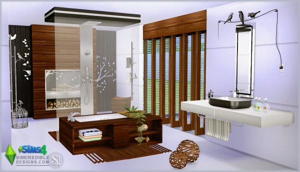 Simcredible designs modernism bathroom sims 4 downloads for The sims 3 bathroom ideas