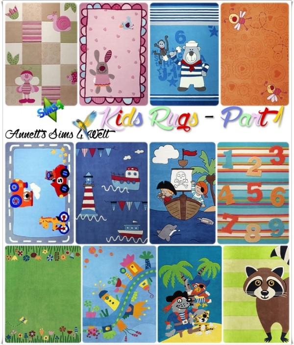 Annett`s Sims 4 Welt: Kids rugs part 1