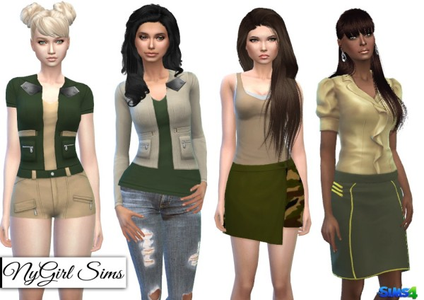 NY Girl Sims: Fall Military Collection