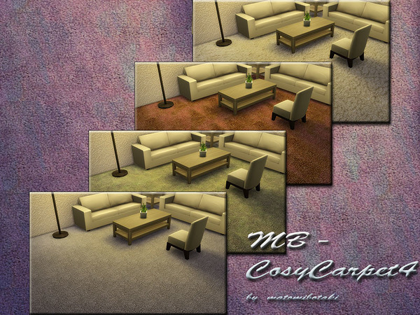 The Sims Resource: MB Cosy Carpet 4 by matomibotaki