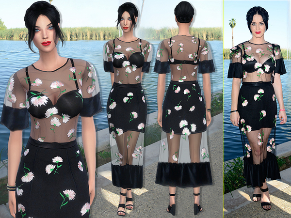The Sims Resource: 71   Katy Perry dress by Sims2fanbg