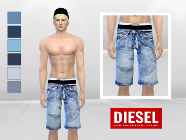 The Sims Resource: Down Under Low Waist Denim Shorts by McLayneSims