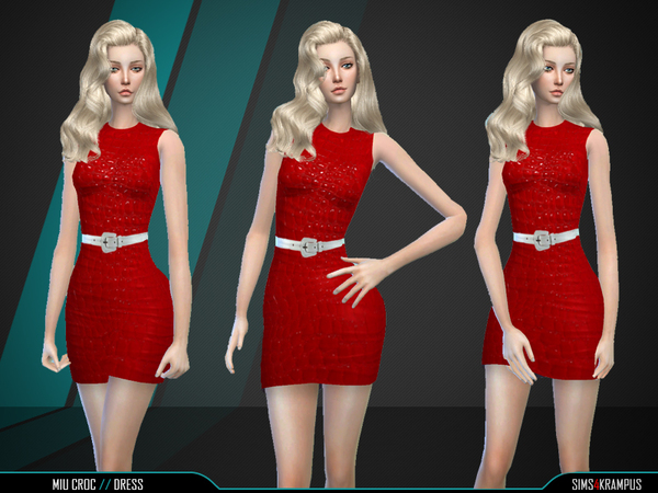 The Sims Resource: Miu Croc Dress by SIms4Krampus